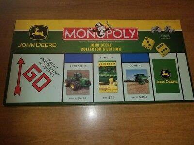 John Deere Tractor Monopoly Board Game Collector's Edition 2005 NEW MINT