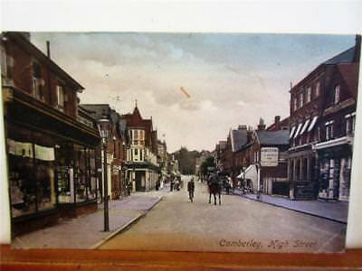 CAMBERLEY HIGH STREET - VINTAGE PRINTED POSTCARD by Frith c1915!