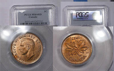 1940 Canada Cent Pcgs Ms 64 Red Inv#325B-1