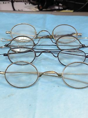 "FOUR PAIR VINTAGE GLASSES--TWO MARKED ""TAW & CO.""--------------------------lm"