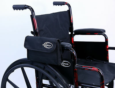 Wheelchair Armrest Carry Bag Scooter Walker Rollator iPhone Side Pouch CP2 NEW