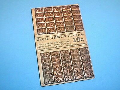Vintage United Remco Numerals For Windows