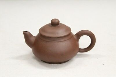 Chinese Yixing Miniature Traditional Ear handled Double Signed Pottery Teapot