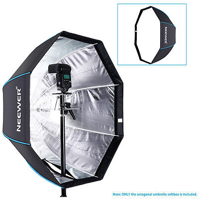 Neewer 80Cm Portable Octagonal Paraguas Softbox para Flash Estudio(Negro/Azul)