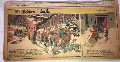 30 1945 Hal Foster MEDIEVAL CASTLE Sunday Pages