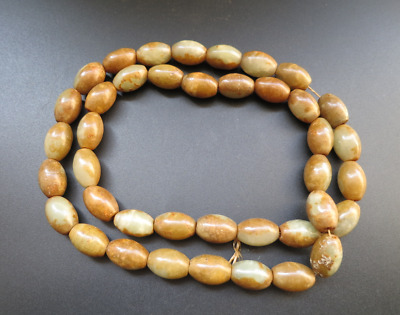Old China,hongshan culture,jade,Hand-carved,beads,Hand woven,Necklace Y2789