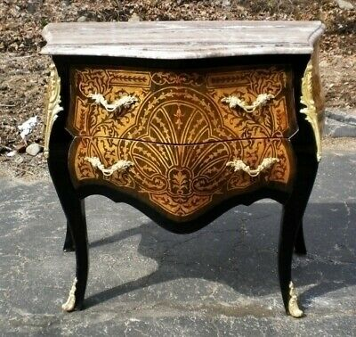 Eye catching Marquetry Commode with french marble top