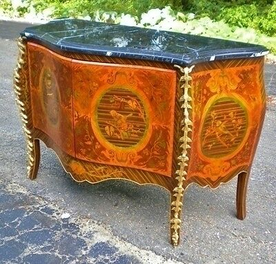 Superbly Ornate Large Louis XV style marble top Commode