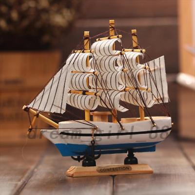 Handcrafted Nautical Ship Model Schooner Boat Wooden Sailing Teacher Gift AU