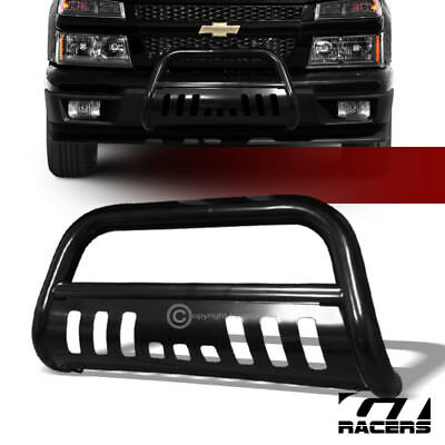For 2004-2012 Chevy Colorado Black Bull Bar Brush Push Bumper Grill Grille Guard