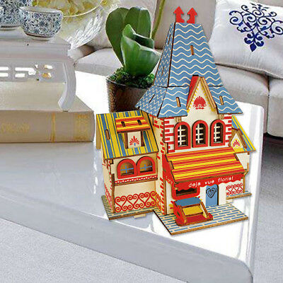 3D Wooden Kids Children Baby Educational Toys Puzzle Dollhouse Birthday Present