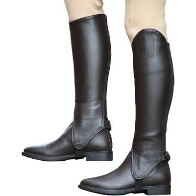 Shires Synthetic Leather Unisex Footwear Riding Gaiters - Brown All Sizes
