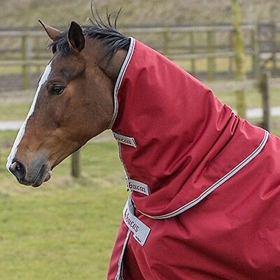 Bucas Irish Turnout Combi Unisex Horse Rug Neck Cover - Ruby All Sizes