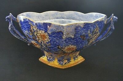 RARE Royal Winton Grimwades Art Deco Chrysanthemum Cobweb Blue China Jardinière