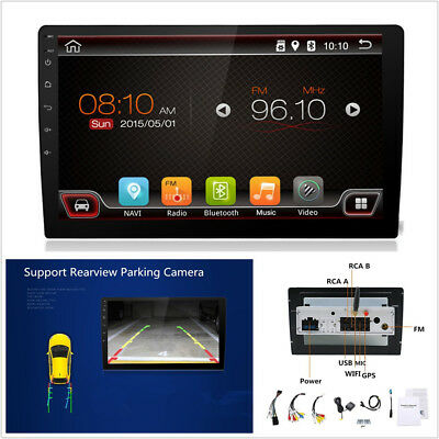 """10.1"""" 1080P Android 7.1.1 Double 1Din Car Stereo Radio GPS Wifi 3G/4G BT DAB OBD"""