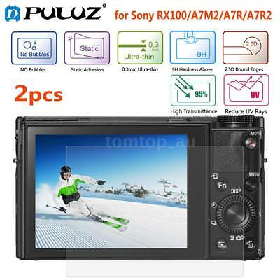 2pcs Puluz 9H Tempered Glass Screen Protector for Sony RX100/A7M2/A7R/A7R2 K0A3