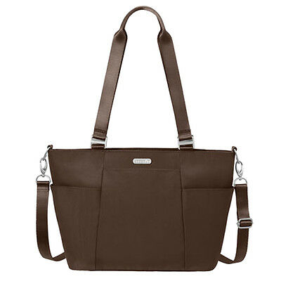 Baggallini Medium Avenue Tote Travel Handbag Java