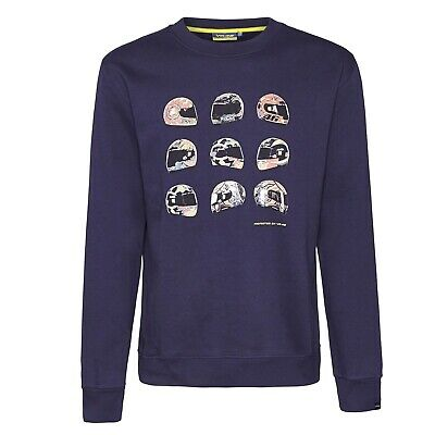 Sweatshirt Crew Neck Adult Bike MotoGP Valentino Rossi Helmet Navy US