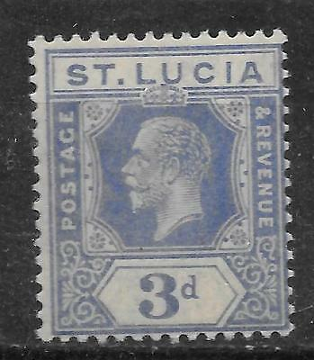 St Lucia 1921-24 King Edward Sc # 83 Mnh