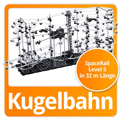 SpaceRail Kugelbahn moderne Space Rail Murmelbahn Spacewarp Level 5 (32 Meter)