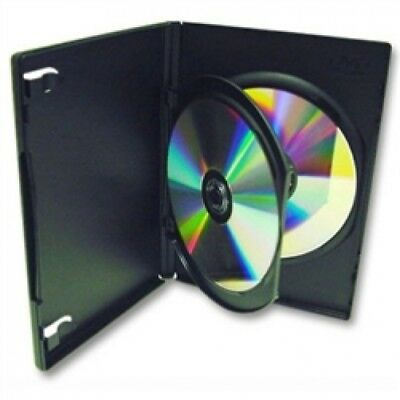 50 STANDARD Black Double DVD Cases with Inner Flap