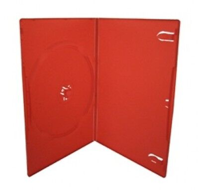 25 SLIM Solid Red Color Single DVD Cases 7MM
