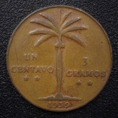 Dominican Republic 1939 Centavo About Uncirculated  Km#17