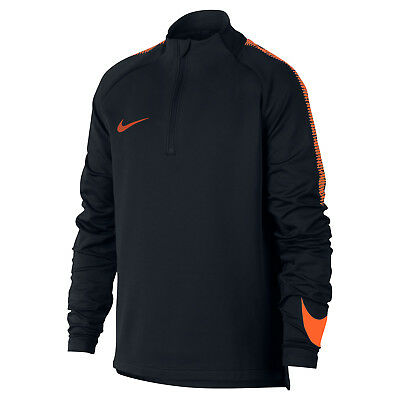 Nike Dri-Fit Squad Drill - Kinder Sport Sweatshirt Zip Top - 859292-015 schwarz