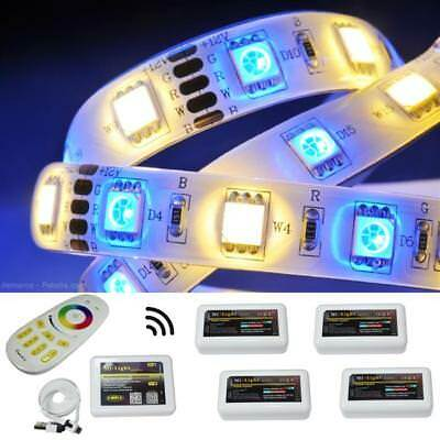 5-75m RGBW RGB+W LED Strip Strips + MiLight 4-Zone Controller WiFi