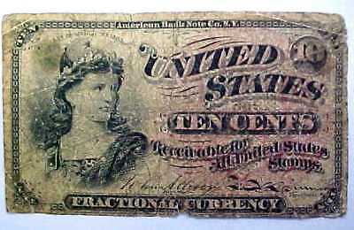 US Fractional Currency 1869 Ten Cents - 10 Cents Paper Note