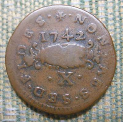1742  Order of Malta Copper 10 Grani (Carlino)  Emmanuel Pinto