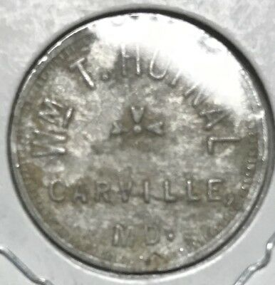 Carville, Md Trade Token, Wm. T. Hufnal, 5