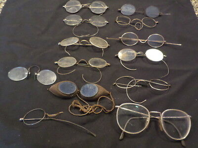 antique eye glasses lot