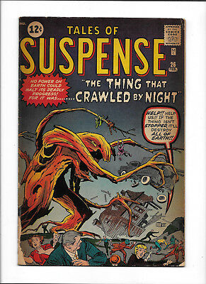 "Tales Of Suspense #26 [1962 Gd-] ""the Thing That Crawled By Night"""