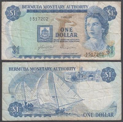 1978 Bermuda Monetary Authority Queen Elizabeth II 1 Dollar