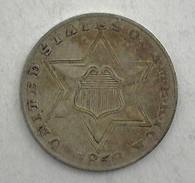 1856 Silver Three Cent Uncirculated