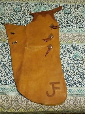 Vintage Leather Western Cowboy Batwing Chaps