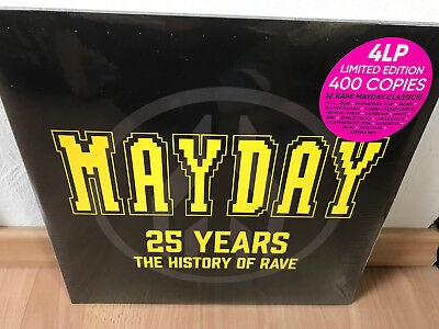 """Mayday - 25 Years (The History Of Rave) - 4x12"""" Vinyl Limited to 400 copies NEU"""