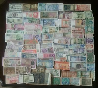 80 Different Old World Paper Money Banknotes Collection Lot Many Countries Vf Au