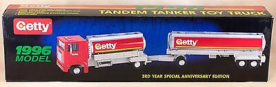 Getty Gasoline Toy Tandem Tanker Truck 1996 New In Box