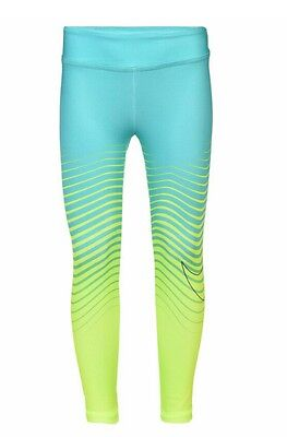 Nike Leggings Dr Fit Nike Swoosh Hyper Jade & Yellow Girls  Size 6X