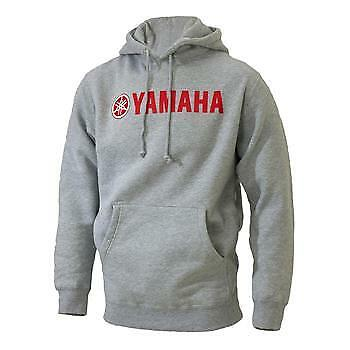 Yamaha Red Logo Gray Hooded Sweatshirt