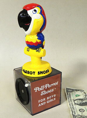 vtg 1970s POLL PARROT Shoe Advertising GE RADIO Composition Statue Store Display