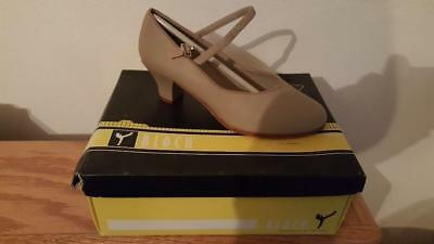 Bloch Ladies ES0376L Tan Encore Character Shoe Size 5.5 5 1/2 M NIB