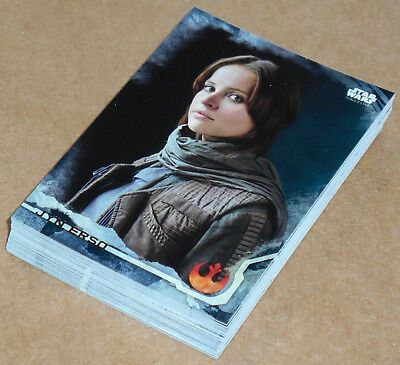 Star Wars Rogue One Series 1 ~ BLACK PARALLEL Base Card Lot (35) no dupes