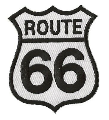 Toppa Patch Route 66 Bianco Termoadesivo Trasferimento Patch
