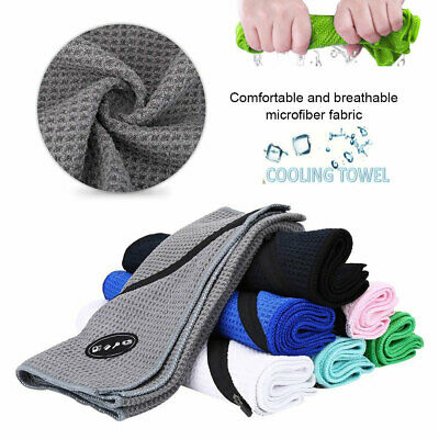 Golf Microfibre Bath Towel Sports Fitness Exercise Gym Yoga Towel W/ Pocket DY