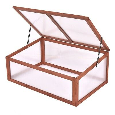 Garden Backyard Wood Flower Greenhouse Cold Frame Raised Plants Bed Protection
