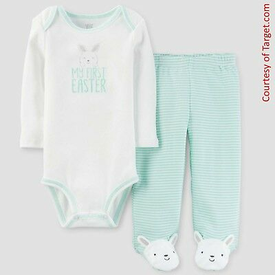 Carters My First Easter Bodysuit and Footed Leggings Outfit (Newborn - 9 Months)