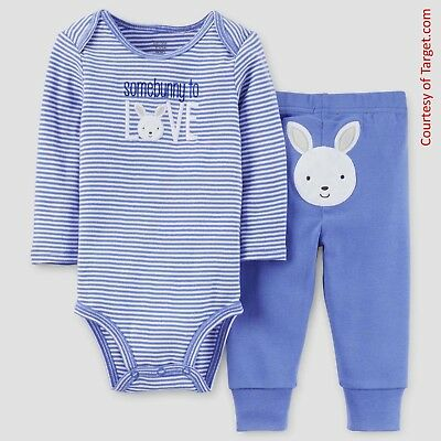Easter Carters Somebunny to Love Bodysuit and Pants Outfit (Newborn - 12 Months)